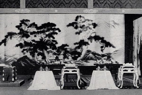饗宴所における天皇皇后両陛下の御座所