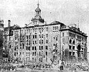 関東大震災で崩壊した東京