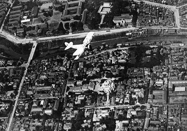 関東大震災直前、1922年の東京空撮